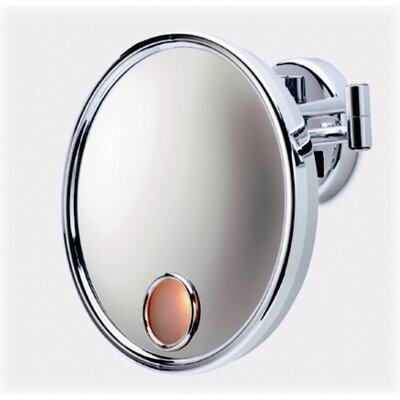 Jerdon Lighted 3X Magnifying Wall Mount Mirror in Chrome