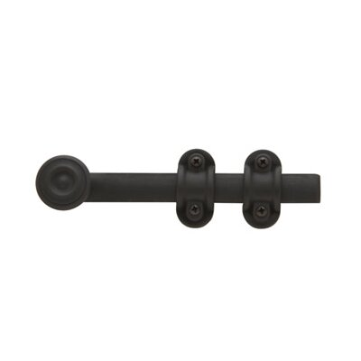 "Baldwin 2"" x 6.5"" Ornamental Heavy Duty Surface Bolt in Oil Rubbed Bronze"