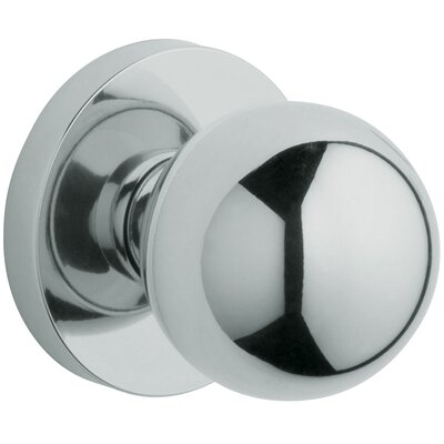 "Baldwin 2.53"" x 2.53"" Contemporary Passage Knob in Satin Nickel"