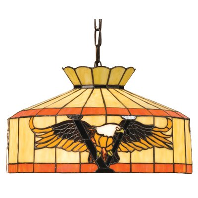 Meyda Tiffany Recreation Victory 1 Light Inverted Pendant
