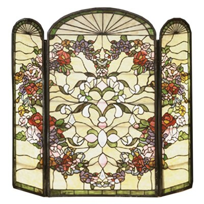 Heart 3 Panel Fireplace Screen