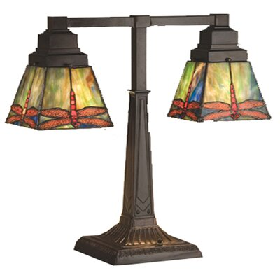 Meyda Tiffany Prairie Dragonfly Table Lamp