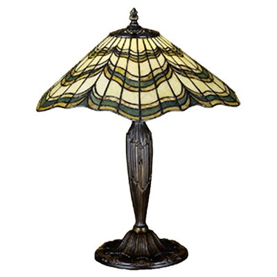 Meyda Tiffany Jadestone Butterfly Table Lamp