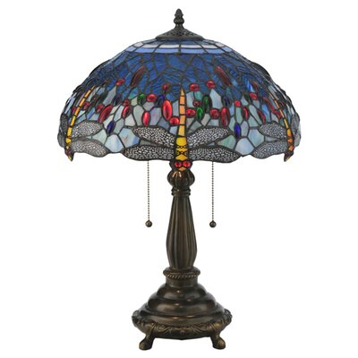 Meyda Tiffany Tiffany Hanginghead Dragonfly Table Lamp