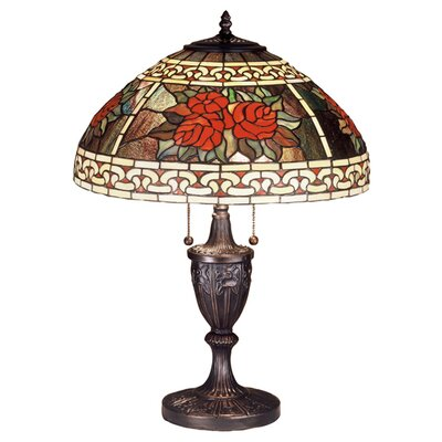 Meyda Tiffany Roses and Scrolls Table Lamp