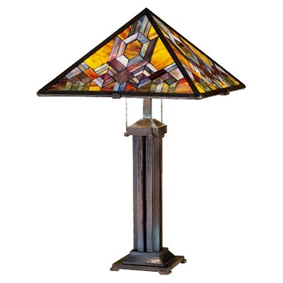Meyda Tiffany Prairie Mosaic Table Lamp