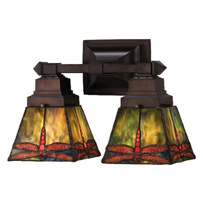 Meyda Tiffany Prairie Dragonfly 2 Light Wall Sconce