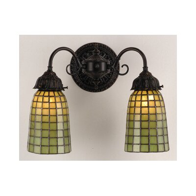 Meyda Tiffany Geometric 2 Light Wall Sconce