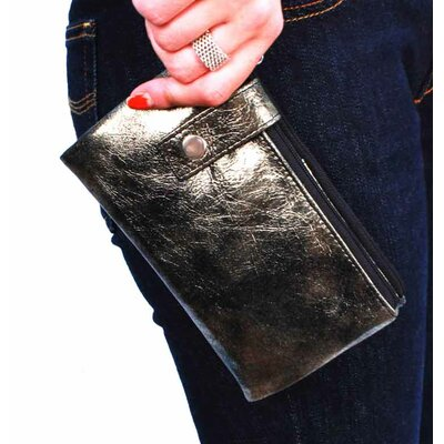 Latico Leathers Art Kaci Large Double Zip Wallet