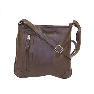 Latico Leathers Curry Multi Zip Slim Crossbody
