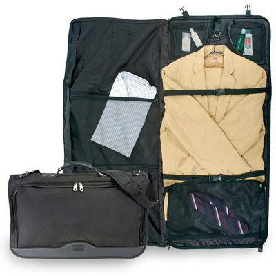 U.S. Traveler Ballistic Nylon Tri-fold Carry-On Garment Bag in Black