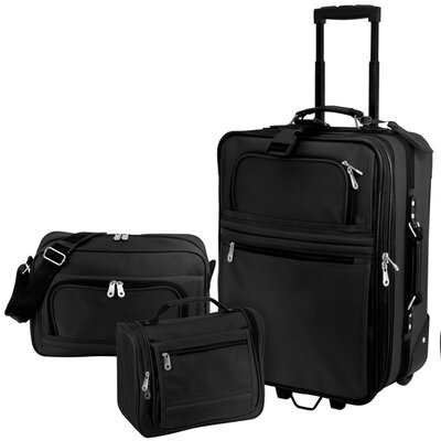 U.S. Traveler Explorer 3 Piece Carry-On Luggage Set