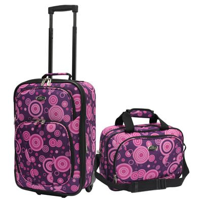U.S. Traveler Fashion 2 Piece Carry-On Luggage Set