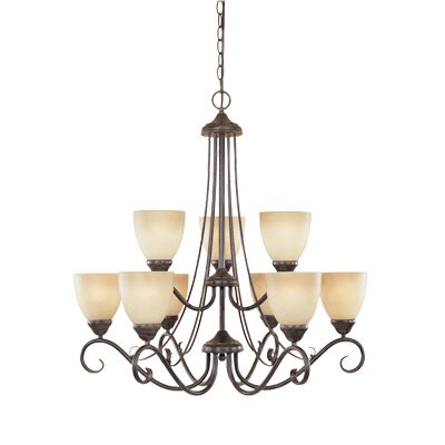 Designers Fountain Stratton 9 Light Chandelier