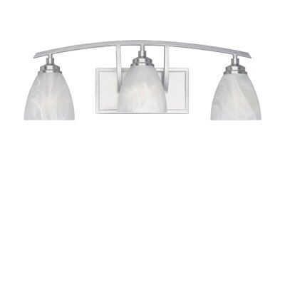 Designers Fountain Tackwood  Vanity Light in Satin Platinum