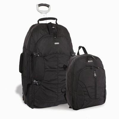 J World Hudson Rolling Backpack with Detachable Daypack