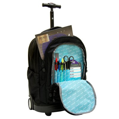 "J World Sunbeam 18"" Laptop Rolling Backpack"
