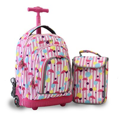 Lollipop Kid's Rolling Backpack with Lunch Bag