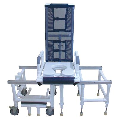 MJM International One Step Locking System Tilt N Space Transfer Chair