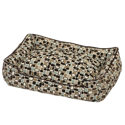 Flocked Lounge Dog Bed in Pebbles