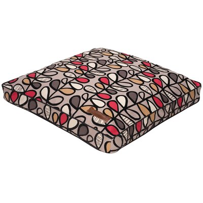 Flocked Pillow Dog Bed in Vine