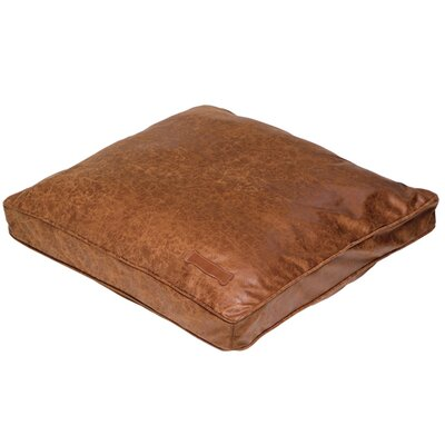 Jax & Bones Faux Leather Pillow Dog Bed in Natural Vintage