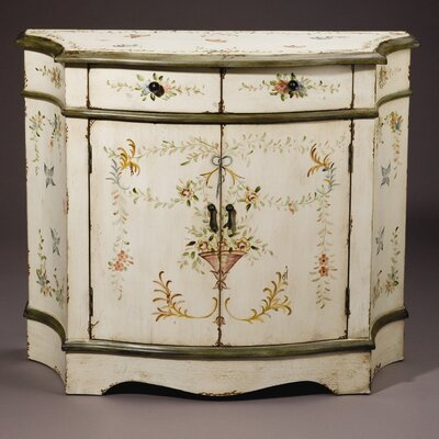 AA Importing Cabinet in Antique Ivory