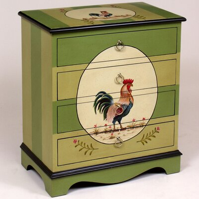 AA Importing 4 Drawer Chest with Rooster