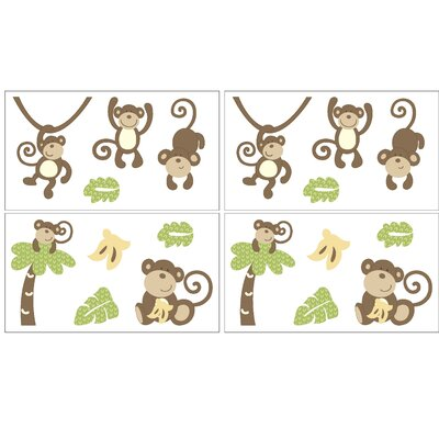 CoCo & Company Monkey Time Removable Wall Decals