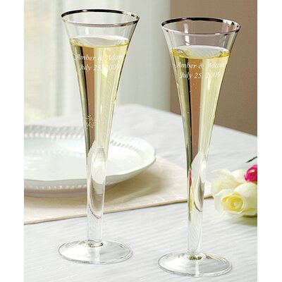 Trumpet Wedding Toasting Flutes (Set of 2)