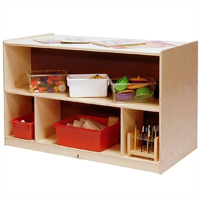 Steffy Wood Products Toddler-Sized Double-Sided Storage Cabinet