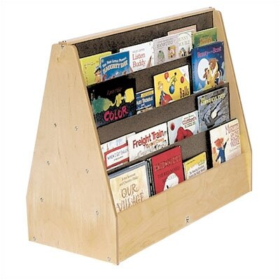 Steffy Wood Products Double-Sided Book Display Unit
