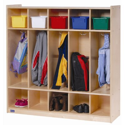 Steffy Wood Products 5 Section Locker