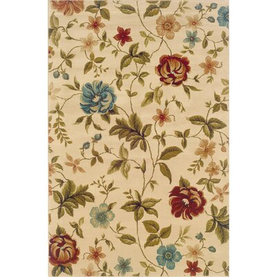 Boylston Industries Harrison Ivory/Green Floral Rug
