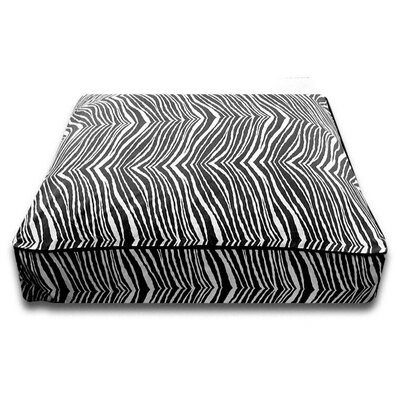 Luca For Dogs Rectangle Bed with Easy-Wash Cover in Black Zebra
