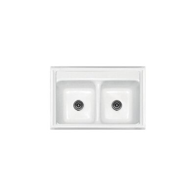 "CorStone Advantage Series 33"" x 22"" Jamestown 50/50 Double Bowl Classic Self Rimming Kitchen Sink"