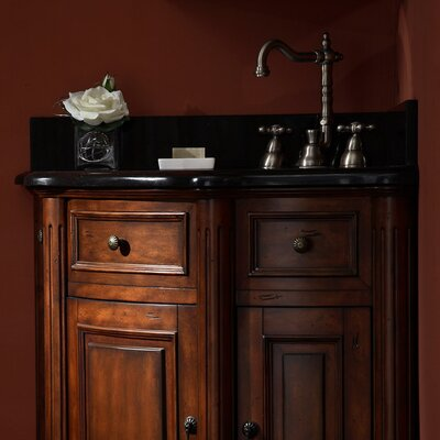 "Xylem Manor 38"" Stone Vanity Top for Corner Unit"