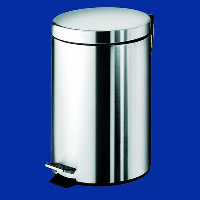 Gedy by Nameeks Argenta Large Pedal Waste Bin in Stainless Steel