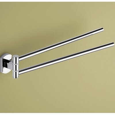 Gedy by Nameeks Edera Jointed Double Towel Bar in Chrome