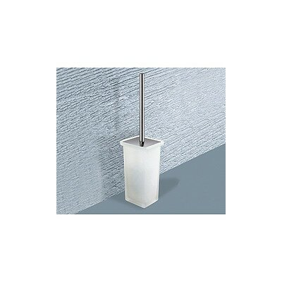 Minnesota Free Standing Frosted Glass Toilet Brush Holder