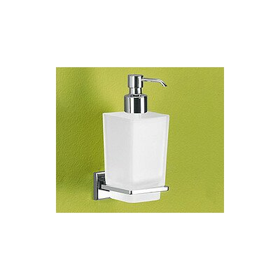 Gedy by Nameeks Colorado Soap Dispenser with Frosted Glass Container