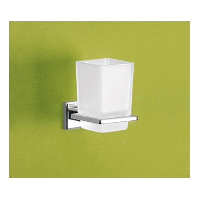 Gedy by Nameeks Colorado Toothbrush Holder with Frosted Glass Container
