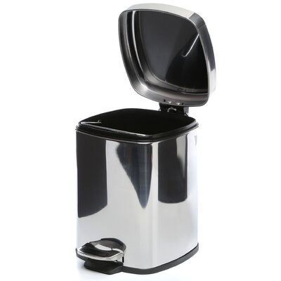 Gedy by Nameeks Argenta Square Pedal Waste Bin in Stainless Steel