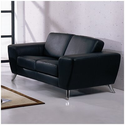 Hokku Designs Julie Leather Loveseat
