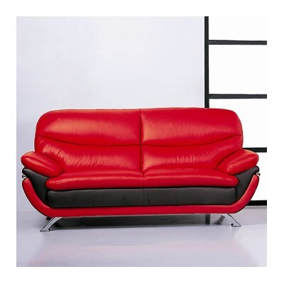 Hokku Designs Jonus Leather Sofa