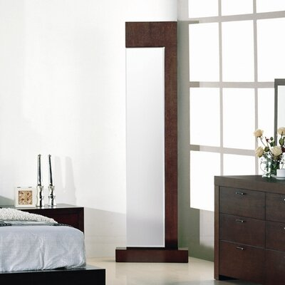 Hokku Designs Traxler Standing Mirror in Walnut