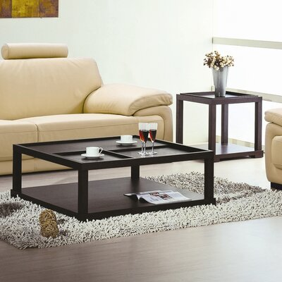 Hokku Designs Parson Coffee Table Set