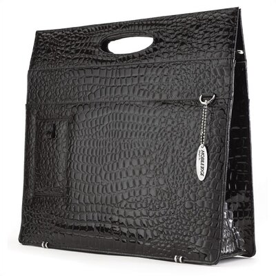 Mobile Edge Women's Faux-Croc Briefcase in Black