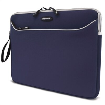 "Mobile Edge 17"" Blue SlipSuit Neoprene Laptop Sleeve for MacBook Pro"