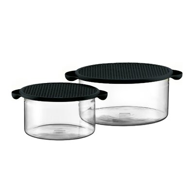 Bodum Hot Pot Set Borosilicate Glass Baking Dish in Black